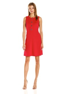Tommy Hilfiger Women's Turn Key Ponte Fit and Flare