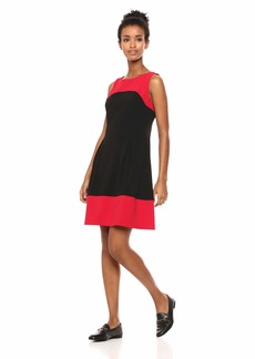 Tommy Hilfiger Women's Two Color fit and Flare Scuba Crepe