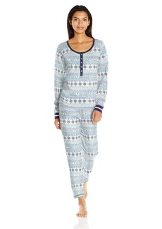 Tommy Hilfiger Women's Long Sleeve Thermal Pajama Set Pj  L