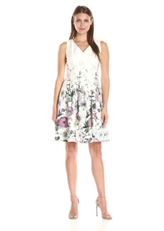 Tommy Hilfiger Women's Vita Floral Fit and Flare Dress