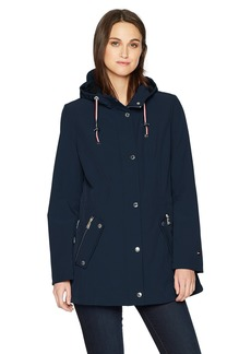 Tommy Hilfiger Women's Water Repellant Hooded Anorak  XL