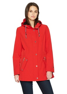 Tommy Hilfiger Women's Water Repellant Hooded Anorak  XS