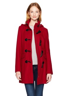 Tommy Hilfiger Women's Wool Blend Classic Hooded Toggle Coat  Extra Small