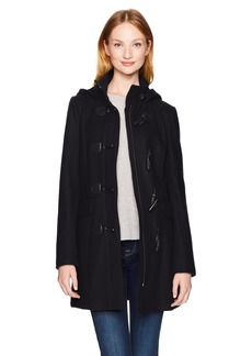 Tommy Hilfiger Women's Wool Blend Classic Hooded Toggle Coat