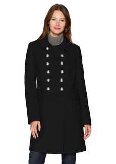 Tommy Hilfiger Women's Wool Blend Military Button Coat  EXTRA SMALL