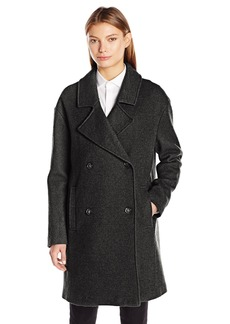 Tommy Hilfiger Women's Wool Boucle Oversized Double Breasted Coat  M