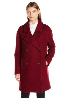 Tommy Hilfiger Women's Wool Boucle Oversized Double Breasted Coat  XS