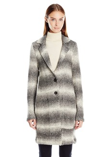 Tommy Hilfiger Women's Toggle Wool Coat with Sherpa Lined Hood  XS