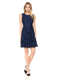 Tommy Hilfiger Women's Zeao Lace Fit and Flare Dress