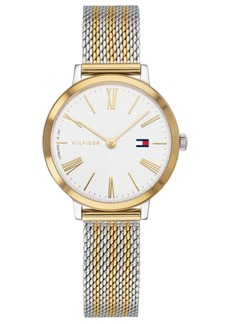 Tommy Hilfiger Women's Zendaya Two-Tone Striped Mesh Bracelet Watch 28mm