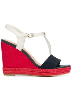 Tommy Hilfiger woven T-bar wedges - Red