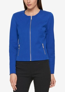 Tommy Hilfiger Zip-Front Blazer, Created for Macy's