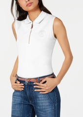 Tommy Hilfiger Zip-Front Polo Top