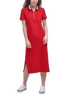 Tommy Hilfiger Zip Polo Midi Dress