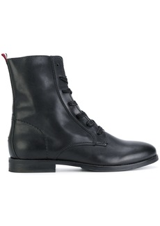 Tommy Hilfiger zipped military boots - Black