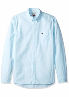 Tommy Hilfiger Tommy Jeans Men's Button Down Shirt Oxford Green n X Large