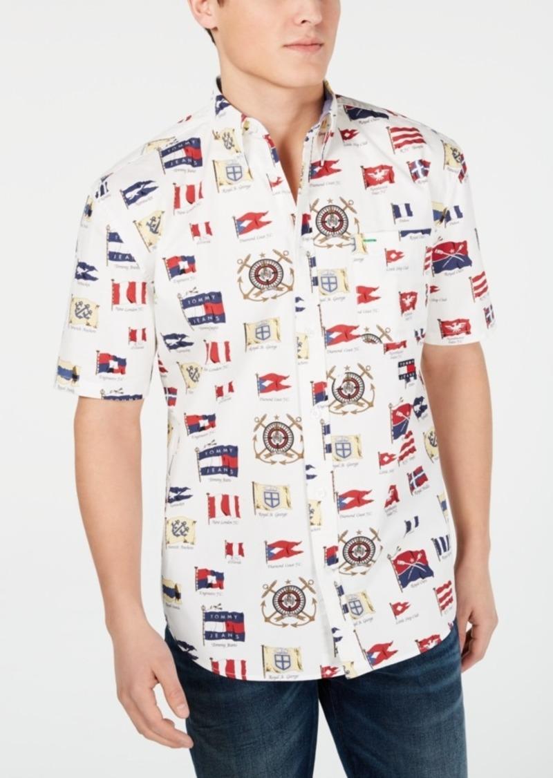 Tommy Hilfiger Tommy Jeans Men's Flag Printed Shirt