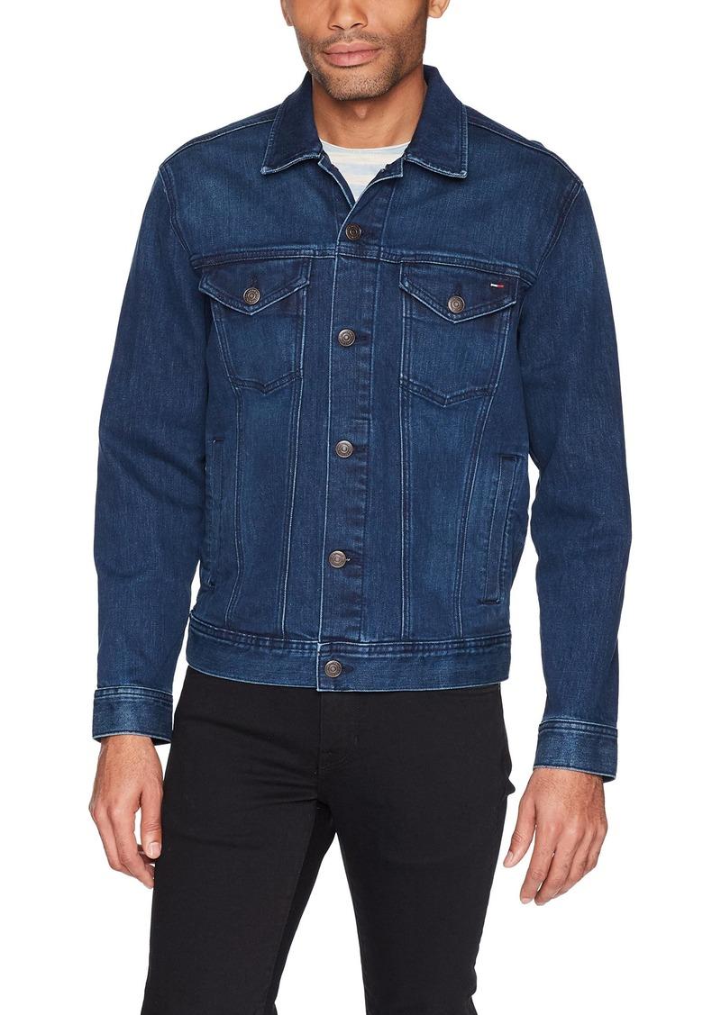 5e94919b42e Tommy Hilfiger Tommy Jeans Men s Classic Denim Trucker Jacket Oak mid Blue  Comfort