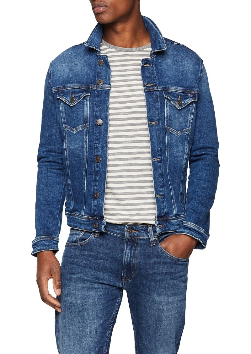 kid united states top-rated official Tommy Jeans Men's Jean Jacket Classic Denim Trucker Paseo mid Blue Combo