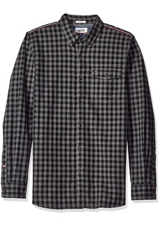 Tommy Hilfiger Tommy Jeans Men's Long Sleeve Herringbone Gingham Button Down Shirt