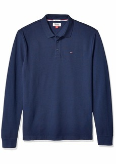 Tommy Hilfiger Tommy Jeans Men's Long Sleeve Polo Shirts  LG