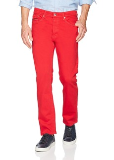 Tommy Hilfiger Tommy Jeans Men's Slater Slim Straight Fit Jeans Racing red Comfort 34X36