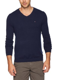 Tommy Hilfiger Tommy Jeans Men's Sweater Original V Neck Black iris