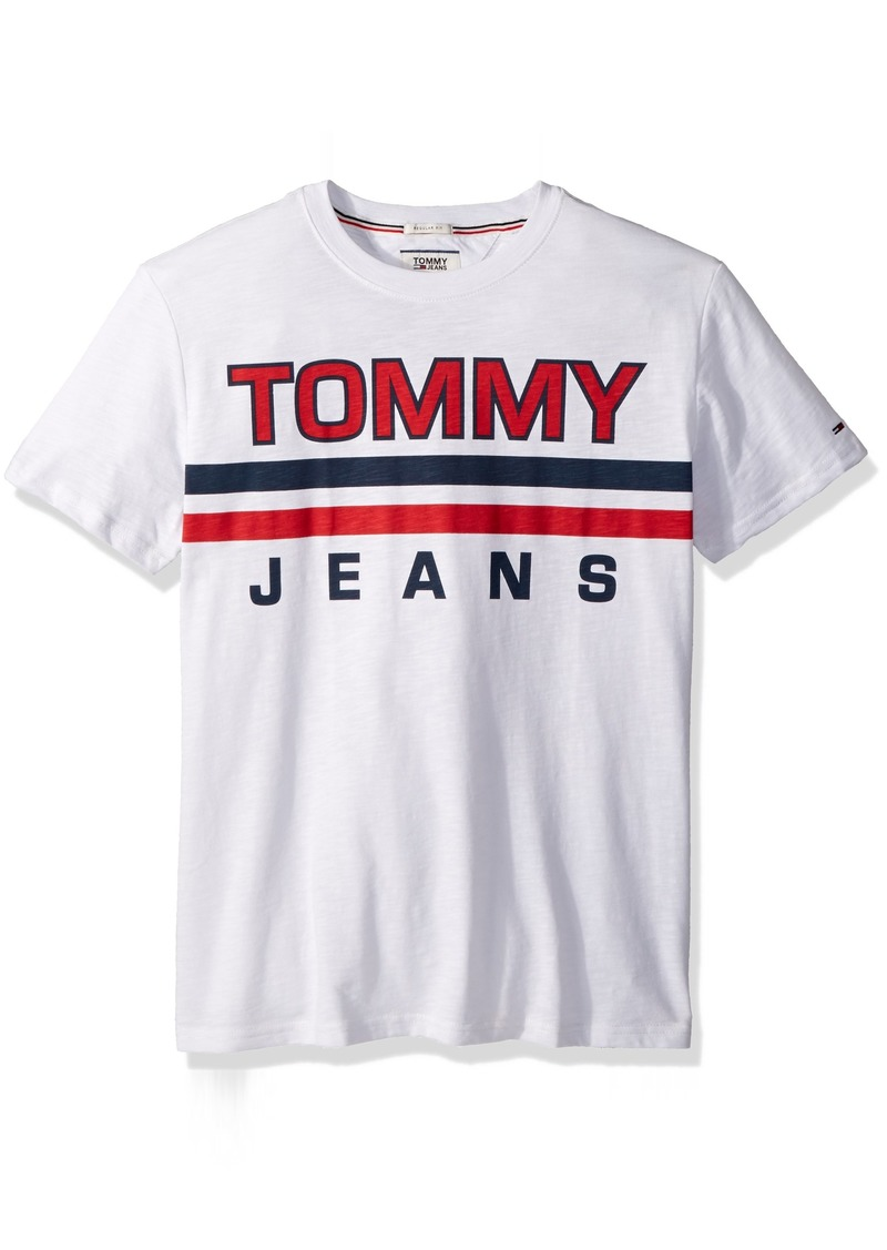 a6490e7f Tommy Hilfiger Tommy Jeans Men's T-Shirt Short Sleeve Graphic Logo Tee