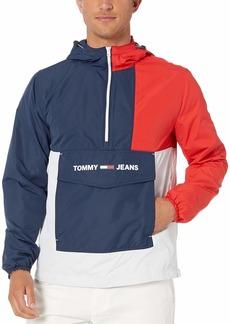 Tommy Hilfiger Tommy Jeans Men's Windbreaker with Colorblock Black Iris/Multi XL