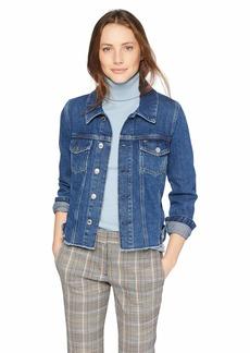 Tommy Hilfiger Tommy Jeans Women's Jean Zippers Trucker Jacket Zip raw Dark Blue Rigid