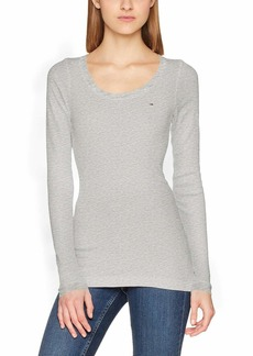 Tommy Hilfiger Tommy Jeans Women's Long Sleeve Original Ribbed Shirt