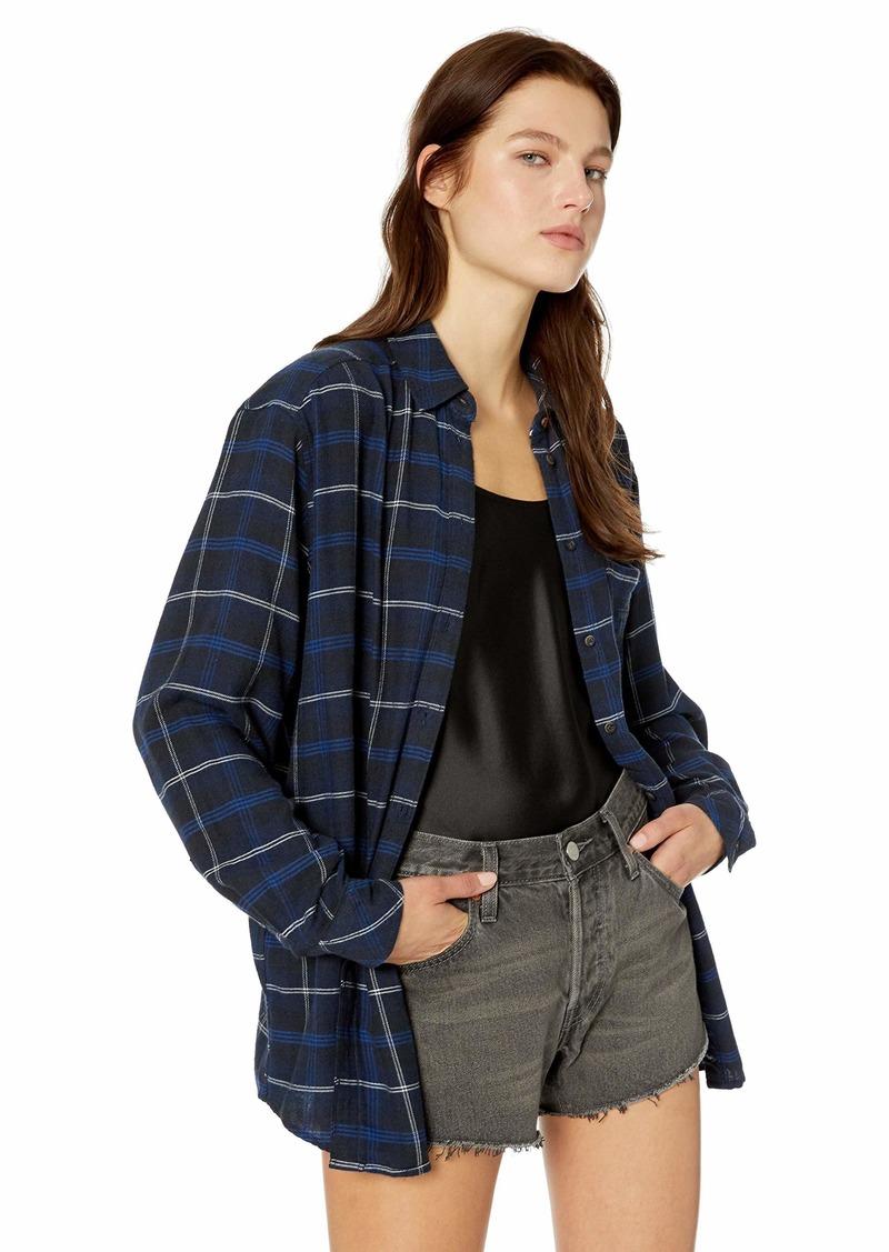 Tommy Hilfiger Tommy Jeans Women's Plaid Shirt Flannel Boyfriend Fit