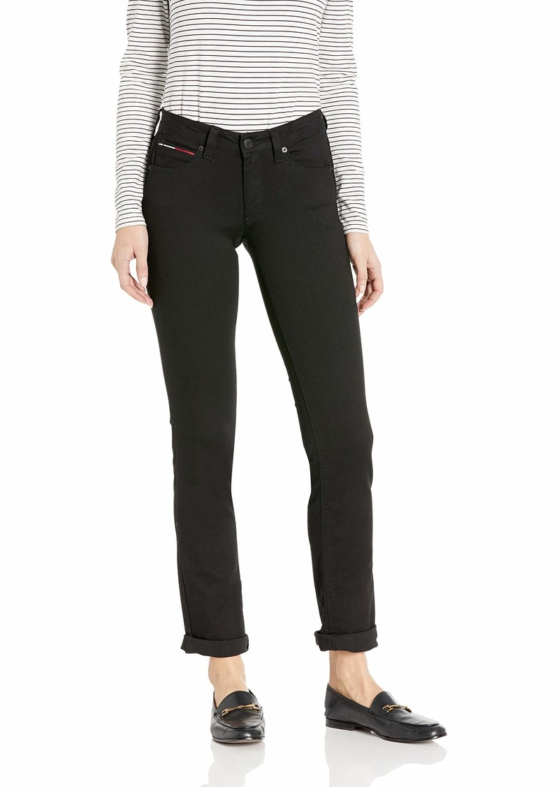 Tommy Hilfiger Women's Straight Leg Sandy Mid Rise Jeans