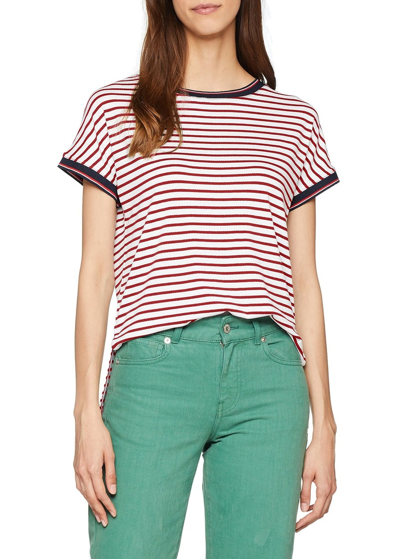 599b6cf00ac2 Tommy Hilfiger Tommy Jeans Women's T Shirt Crepe Stripe Tee | Tees