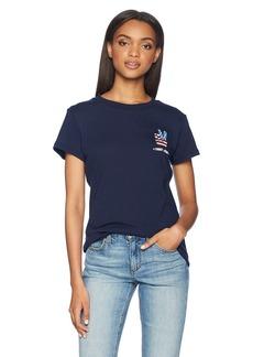 Tommy Hilfiger Tommy Jeans Women's T Shirt Short Sleeve Graphic Logo Tee Black iris