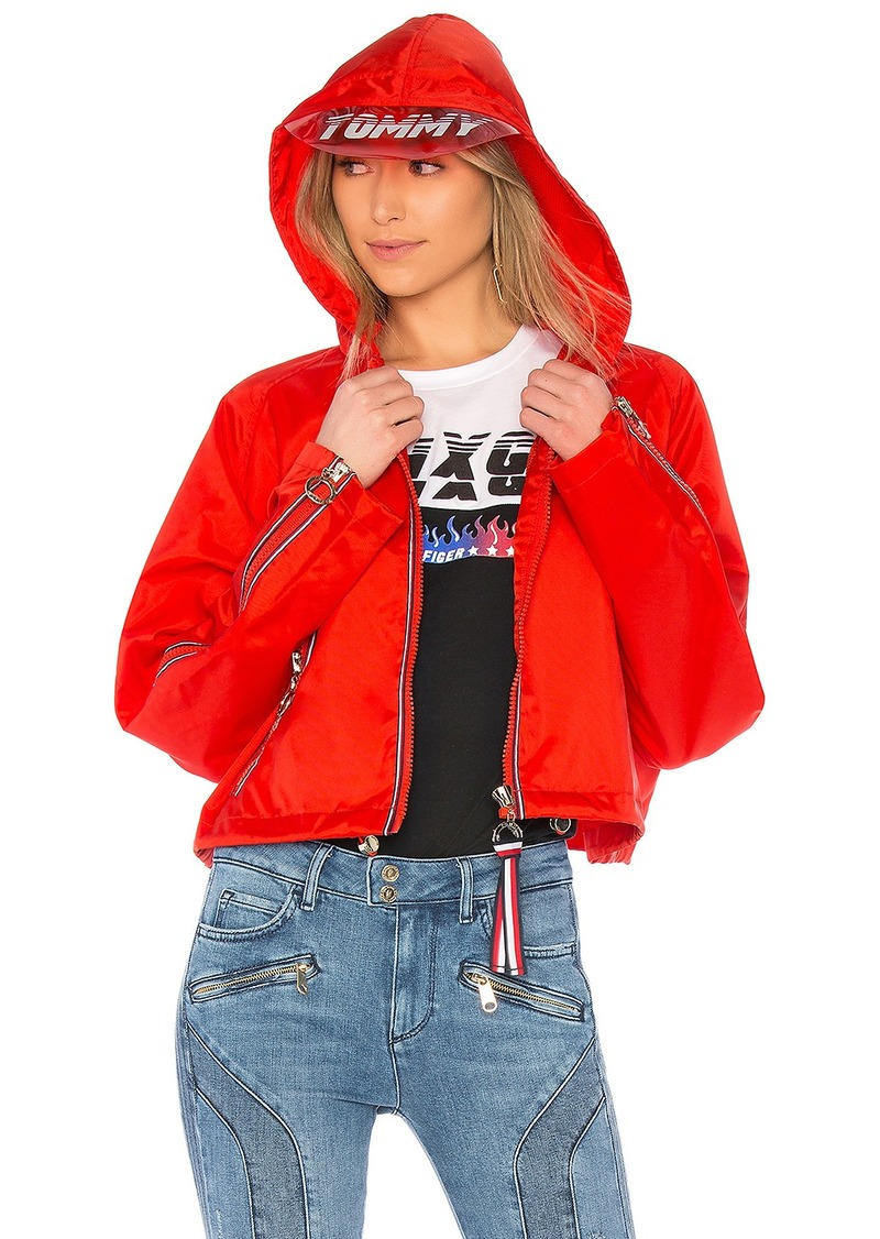 Outerwear Red Tommy Hilfiger Cropped Bomber Gigi Hadid Womens Apple Red | Vaping UK APP