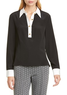 Tommy Hilfiger Tommy x Zendaya Contrast Collar Pullover Blouse (Nordstrom Exclusive)