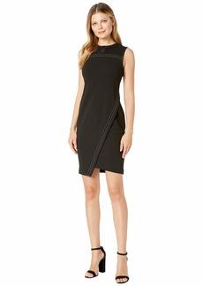 Tommy Hilfiger Top Stitch Asymmetrical Hem Dress