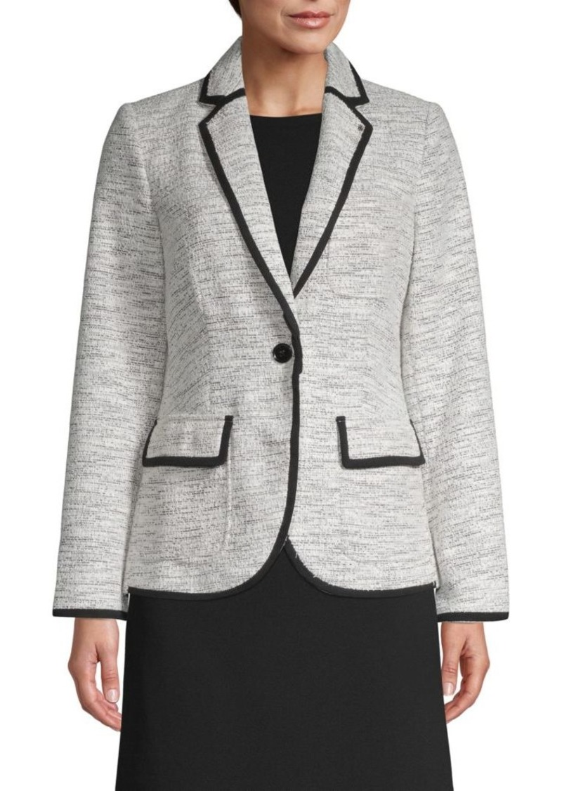 Tommy Hilfiger Tweed Single-Button Jacket