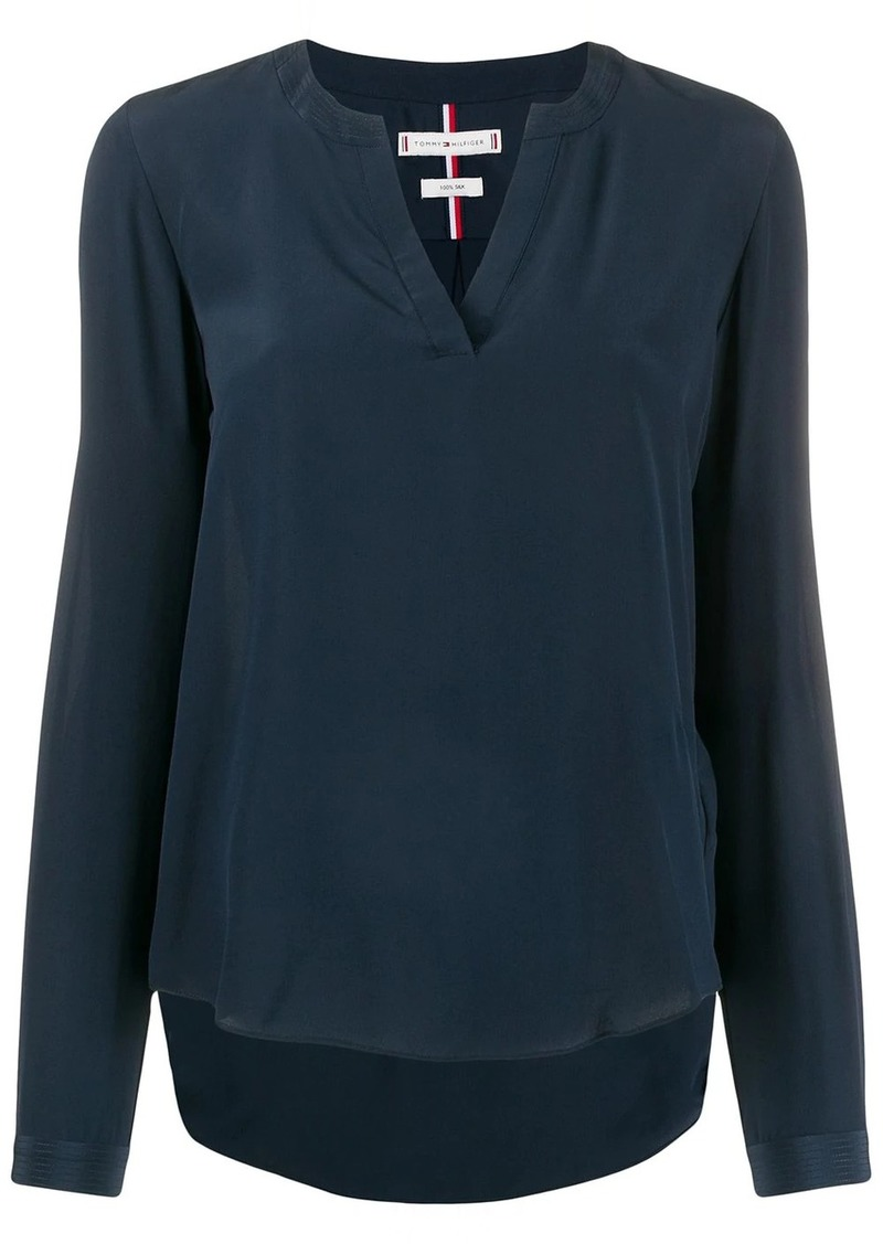 Tommy Hilfiger v-neck silk blouse