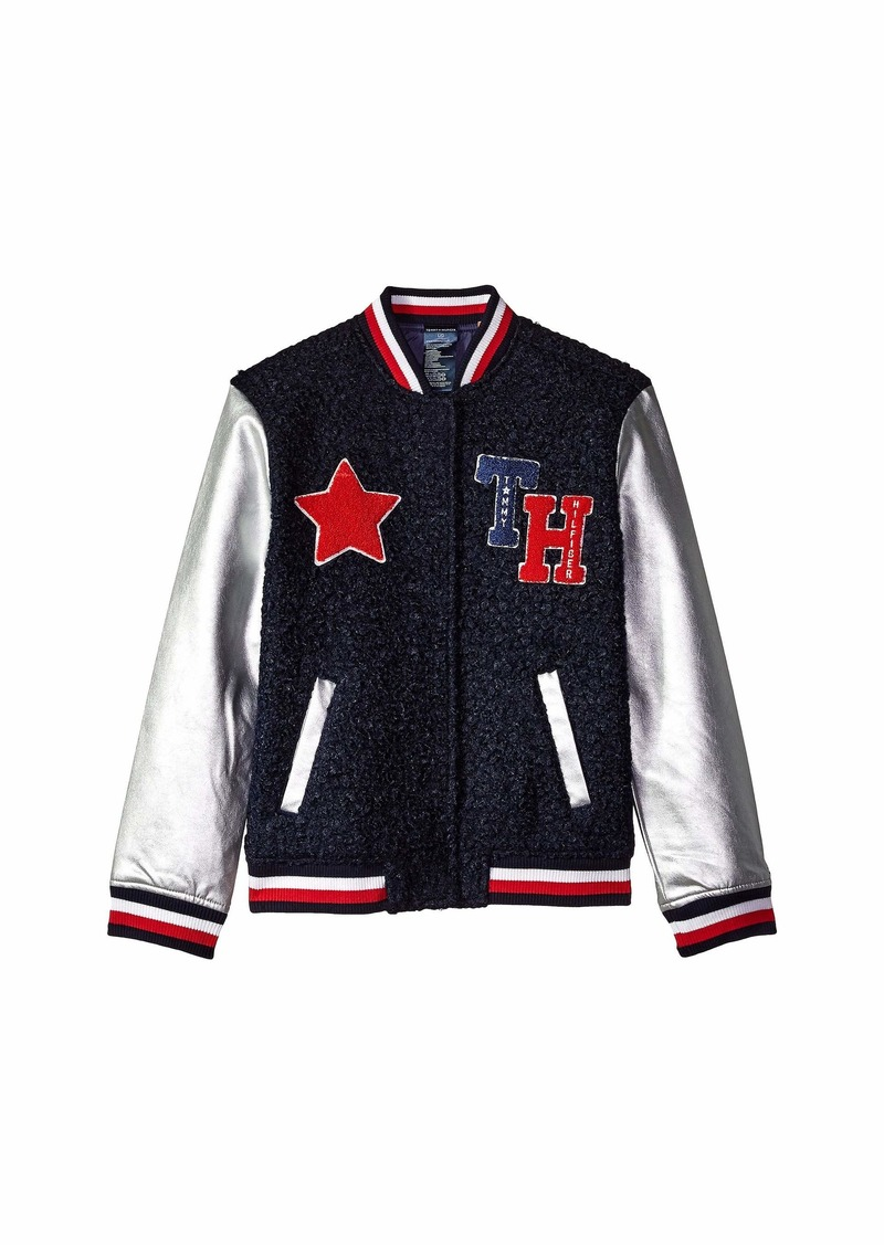 a744f8764 Tommy Hilfiger Varsity Jacket with Magnetic Buttons and Sherpa ...