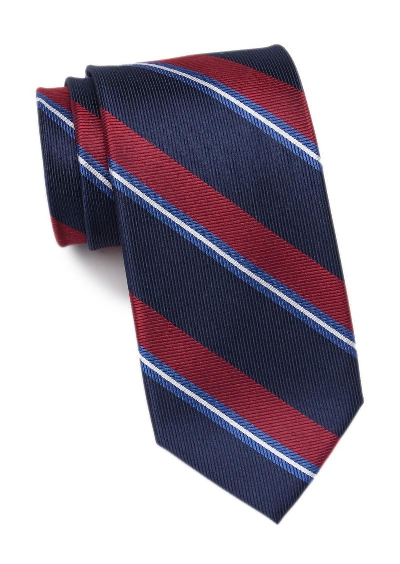 Tommy Hilfiger Village Stripe Silk Tie - XL