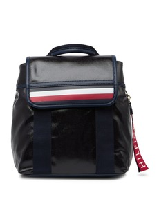 Tommy Hilfiger Viola Coated Canvas Flap Backpack