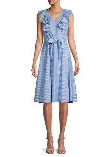 Tommy Hilfiger Wall Street Striped A-Line Dress
