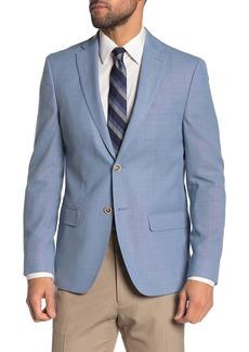 Tommy Hilfiger Weave Blue Two Button Notch Lapel Slim Fit Performance Blazer