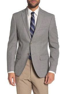 Tommy Hilfiger Weave Grey Two Button Notch Lapel Slim Fit Performance Blazer