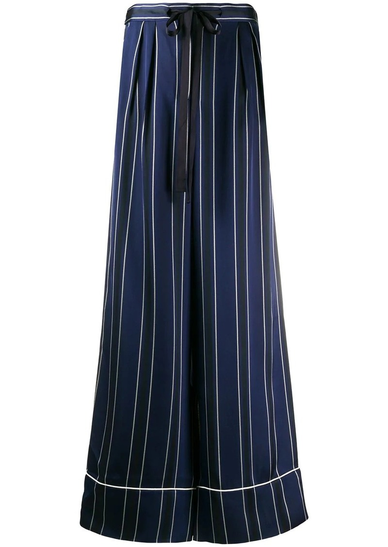Tommy Hilfiger wide-leg striped trousers
