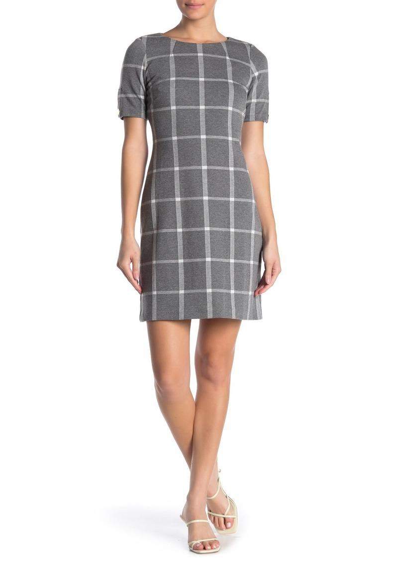 Tommy Hilfiger Windowpane Print Knit Dress