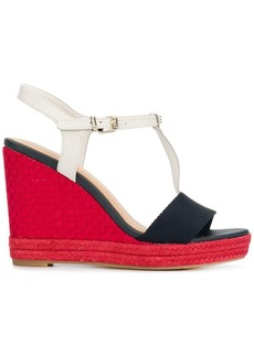 Tommy Hilfiger woven T-bar wedges