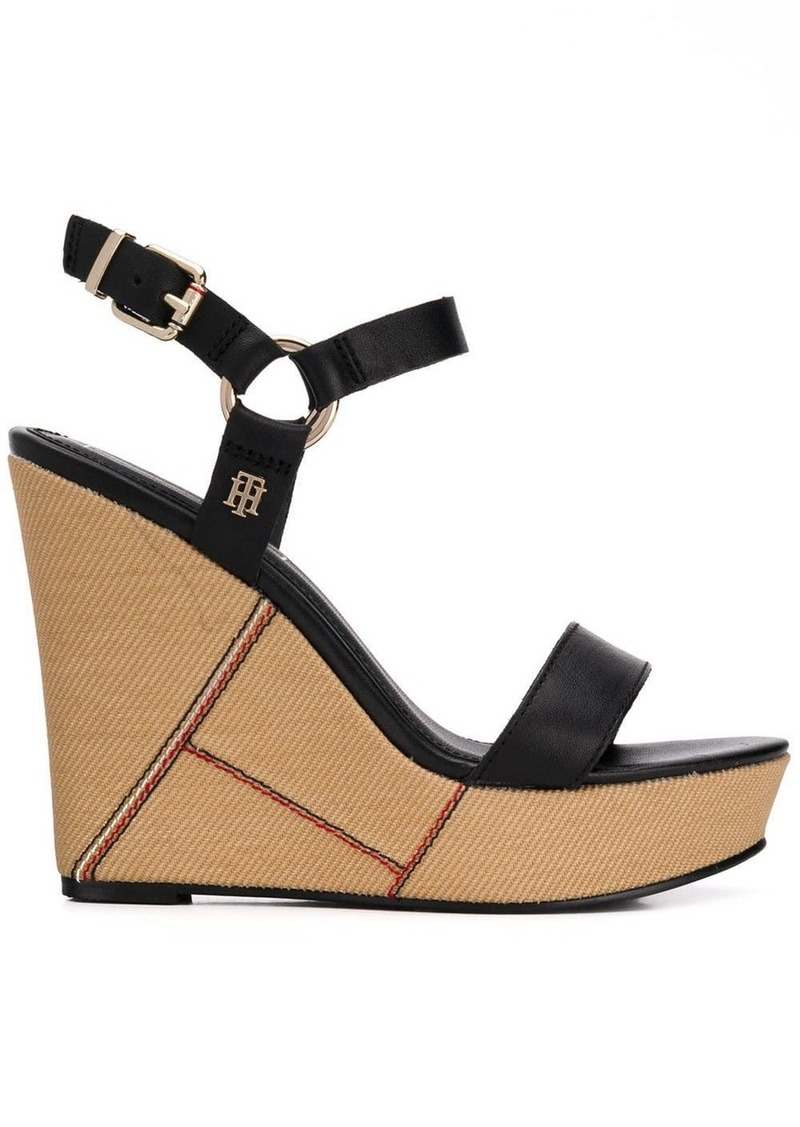 Tommy Hilfiger woven wedge sandals